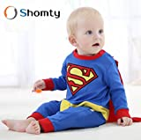 Shomty なりきりコスチューム ロンパース キッズ服 子供服 (80, スーパーマン)