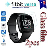 [2-Pack] Fitbit Versa Tempred Glass LCD Screen Protector Film Guard For Fitbit Versa Smart Watch