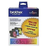 Brother lc613pks Innobella standard-yieldシアン/マゼンタ/イエローインクカートリッジ、3パック