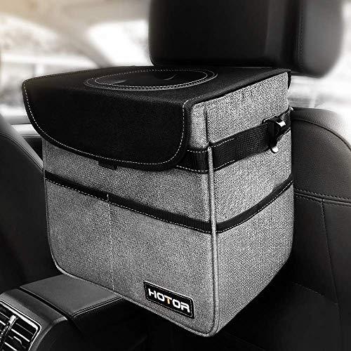 HOTOR車用ゴミ箱 収納ポケット 防水 大容量 折りたたみ可能 多用途 小物入れ(グレー)