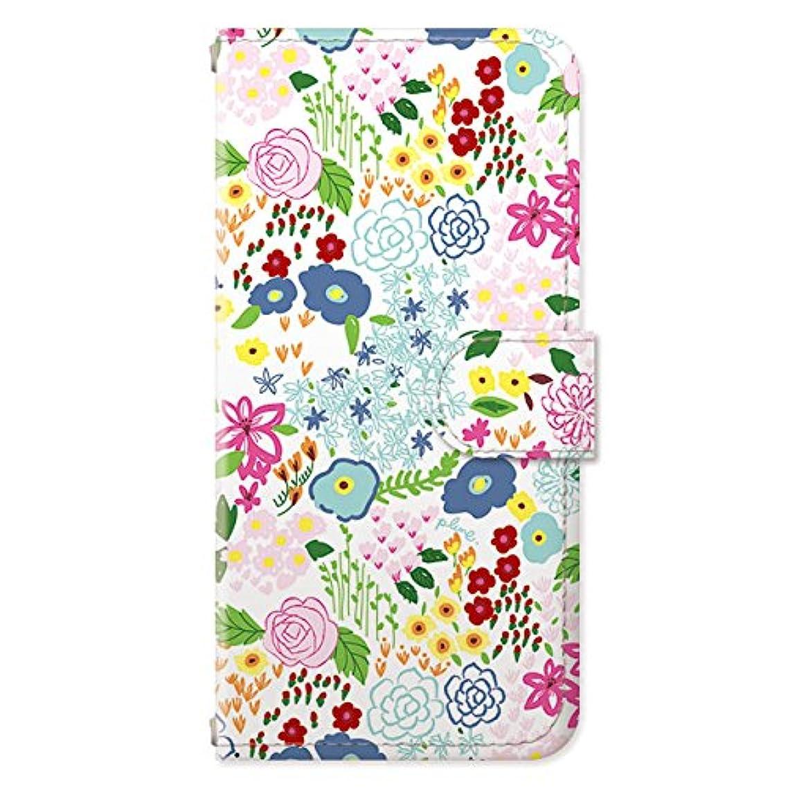 ピアモスクめ言葉Plune. × collaborn iPhone 6s / 6 (4.7インチ)専用 デザイナーコラボ手帳型ケース 小花柄白 PL-BKI6-018