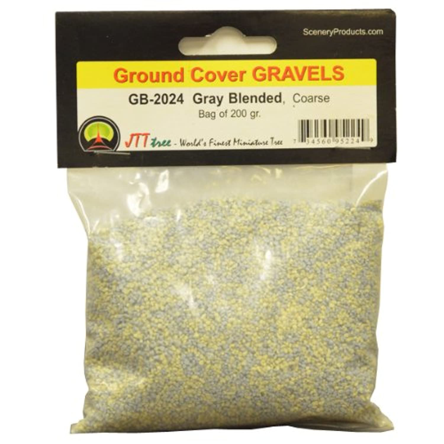 JTT Scenery Products Ballast and Gravel, Grey Blend, Coarse/200gm
