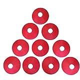 Zakur マーカーコーン カラーコーン 割れにくい サッカー フットサル 用品 (レッド, 10枚)
