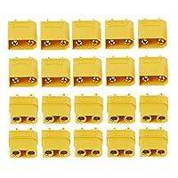 jiuloneclerst 10ペア女性男性XT90バナナバレットコネクタプラグRCリポバッテリーゴールドメッキバナナプラグ
