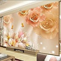 Xueshao 恋の壁画Hd蝶リビングルームのソファーテレビの背景の壁紙家の装飾モダンな寝室の装飾の壁紙3D-400X280Cm