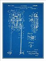 "1929Harley Davidsonフロントフォークとアセンブリ特許印刷アートポスター額なし青写真18"" x 24"""
