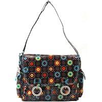 Kalencom Double Buckle Bag Doodle bugs-chocolate マザーズバッグ KC0002-06