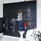 黒板シート 壁に貼る ブラックボード シール シート 黒板再生 落書き チョーク付き はがせる 壁紙 ウォールステッカー おしゃれ 子供 冷蔵庫 diy リフォーム(44.5 x 200cm)