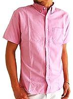 (アーケード) ARCADE メンズ 半袖 シャツ 大きいサイズ ドットテープ オックスフォード ボタンダウンシャツ カジュアル 半袖シャツ