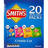 Smith's Crinkle Cut Variety Multipack Chips Box, 6 x 380 Grams