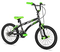 X-Games FS-18 BMX/Freestyle Bicycle 18-Inch Black/Green [Floral] [並行輸入品]