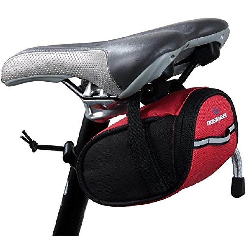 お気に入り接ぎ木希望に満ちたFC-工場 自転車バッグ サドルバッグ かばん ストラップ式 防水 レーサー装備 アウトドア パッケージ (黑)