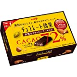 【ケース販売】明治 チョコレート効果 カカオ72% 素焼きクラッシュアーモンド 47g×5個