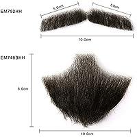 Neitsi(ネイティス) 付け髭 ひげ 口髭 人毛ウィッグ 髪製髭 手作り本物 コスプレ用ダンス用髭 1セット