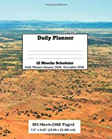 Daily Planner:12 months scheduler, Daily Planner January 2020-December 2020
