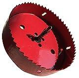 バイメタル ホールソー M42 ドリル ビット 穴あけ 特大サイズ 木工 研磨 工具 (140mm 単品)