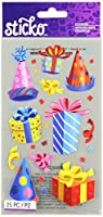 Sticko Classic Stickers-Party Hats & Presents (並行輸入品)