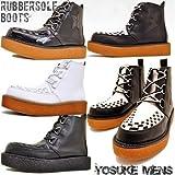 [YOSUKE U.S.A ヨースケ] 厚底 ラバーソール メンズ 厚底 ブーツ 25.5cm ホワイト