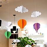 YY-Time ベビー ガーランド 出産祝い 入園祝い 誕生日プレゼント (気球と雲の空旅)