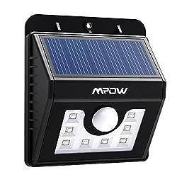 Mpow 8 LED センサーライト ソーラーライト 防犯ライト 3-in-1 玄関ライト ワイヤレス人感センサー 外灯 壁掛け式 太陽発電 省エネ 屋外照明 軒先 駐車場 庭先 玄関周りなど対応 夜間自動点灯 (改良版)- MSL5