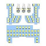 N-BOX LEDルームランプ ホワイト 室内灯 ホンだ NBOX JF1 JF2 JF3 JF4専用設計 純正交換 爆光 車用 カスタムパーツ JF3/JF4カスタム対応不可 LED バルブ 内装パーツ 取付簡単 一年保証 4点セット (ホンダ N-BOX 用)