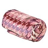 西川 マイクロファイバー毛布 洗えるフランネルタッチ シングル 140×190cm 千鳥柄 ピンク 20700004 01