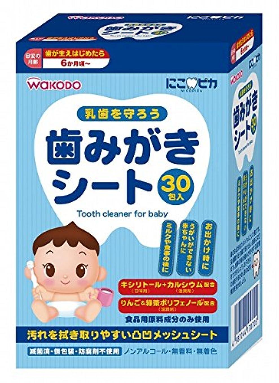 屋内決済医薬品にこピカ 歯みがきシート ベビー 30包