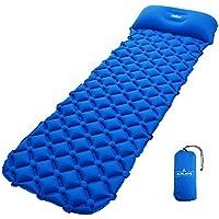 Acelane 空気キャンプパッド 軽量睡眠マットレス コンパクト枕付き キャンプ バックパック旅行 ハイキング用