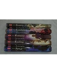 Hem DivineシリーズIncense Variety :すべての5 Fragrances 20スティックボックス= 100 Sticks