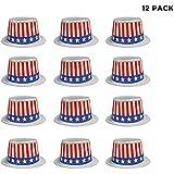Patriotic 7月4日Top Hats – 12パックパーティーFavors