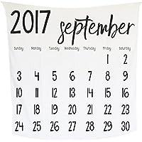 モダンバーラップ Modern Burlap おくるみ 1枚 オーガニック コットン モスリン スワドル ブランケット カレンダー SEPTEMBER 2017