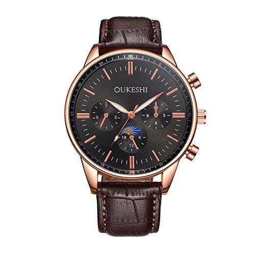 腕時計 Dafanet Watch 時計 クォーツ腕時計 8タイプ アナログ・ダイヤル腕時計メンズ腕時計 ウォッチ 飾り おしゃれ 薄型 軽量(男性向き 時間記録  ビジネス用 日常用 通学用 通勤用 ) (H)