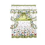 Best GoodGram®カーテン - Butterflies Floral Prairie Complete 5pc。コテージキッチンカーテンセットby GoodGram–各種サイズ 36 in Review