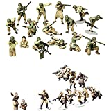 2 Sets of Tamiya Military Assembly Models - WW2 Infantry - US Army and Russians with Tank Crew (Japan Import)