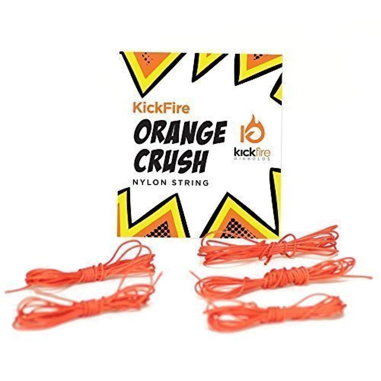 KickFire Diabolos Orange Crush Diabolo String, Nylon, Chinese YoYo Replacement String, Set of 5 Strings [並行輸入品]