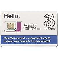 Three UK プリペイド シムカード ヨーロッパ用 9GB ヨーロッパ、アジア、アメリカ使用可能