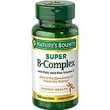 Vitamin B Complex by Nature's Bounty, Super B Complex Vitamins w/Vitamin C for Immune Support & Folic Acid, 150 Tablets