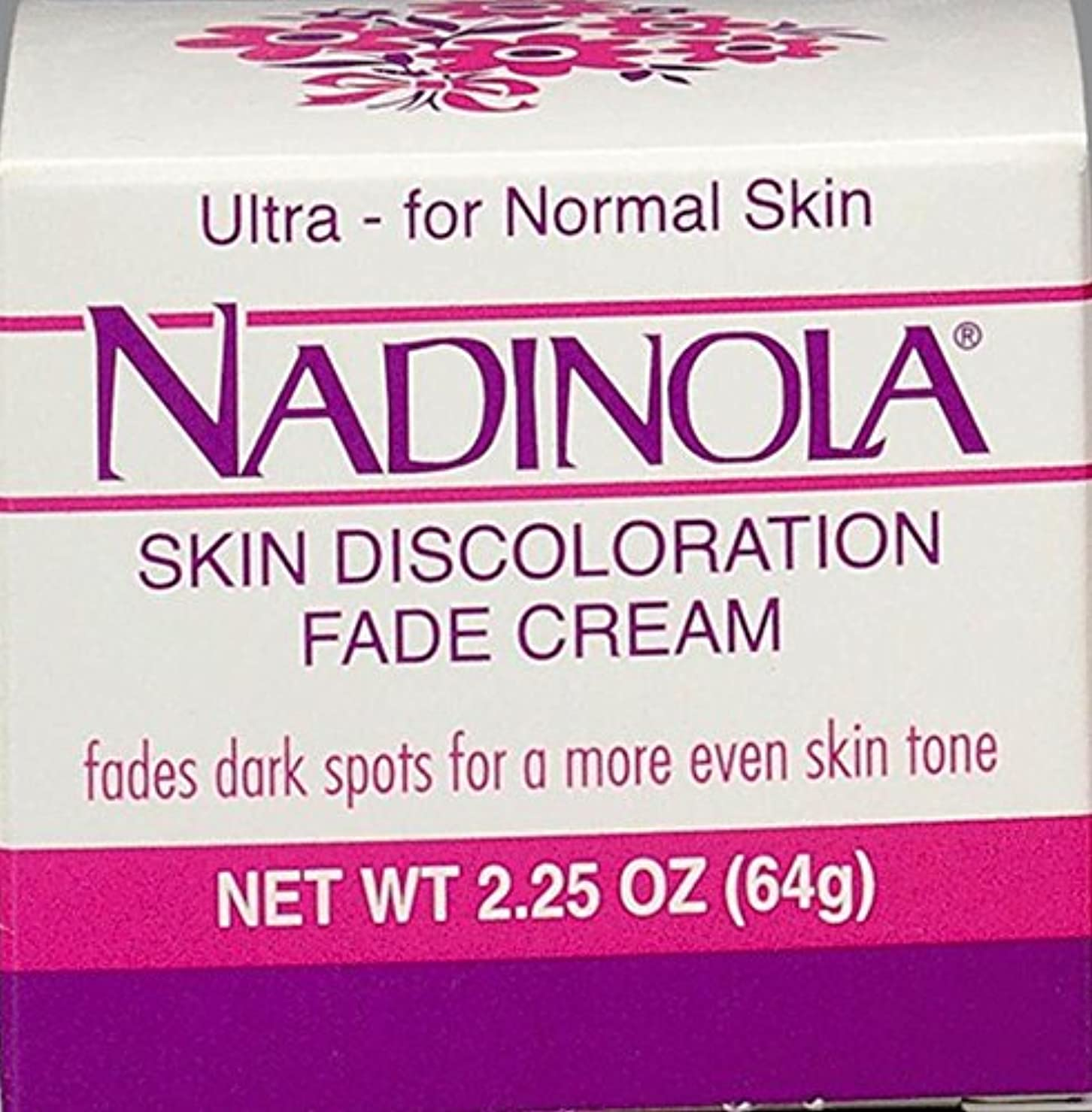 用量テメリティケープNadinola Discoloration Fade Cream 2.25oz Normal Skin (並行輸入品)