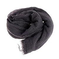 Kofun 女性のスカーフ, 女性シフォンプリントシルクスカーフスカーフショールポリエステルシルクヒジャブ ブラックアッシュ
