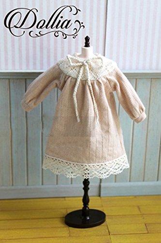 (ドーリア)Dollia ブライス 1/6ドール用 アウトフィット ベージュ 刺繍 ワンピース ネオブライス ドール 人形 (ワンピース)