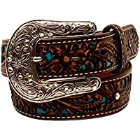 Ariat Girl's Pierced Floral Strap Belt