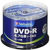 三菱ケミカルメディア Verbatim 1回記録用 DVD-R DHR47JP50V4 (片面1層 1-16倍速 50枚)