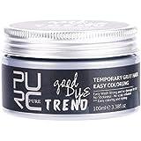 ヘアワックス染料一時的なヘアカラースタイリングヘアケア保湿(グレー)