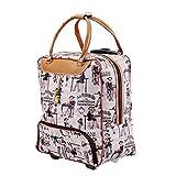 (オマン)WO MAN WEI SI 2wayスーツケース トローリバッグ 軽量化 2輪 撥水加工 ソフトキャリー 機内持ち込み可 大容量 旅行バック 男女兼用 (L, スタイル4)