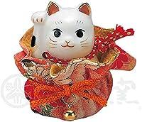 彩絵ふく福巾着招き猫(右手・赤) AM-Y7196