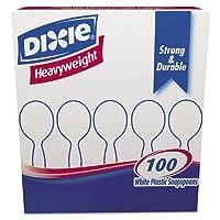 ヘビー級プラスチックカトラリー、スープスプーン、ホワイト、100/ボックス, Sold as 1ボックス、100各perボックス