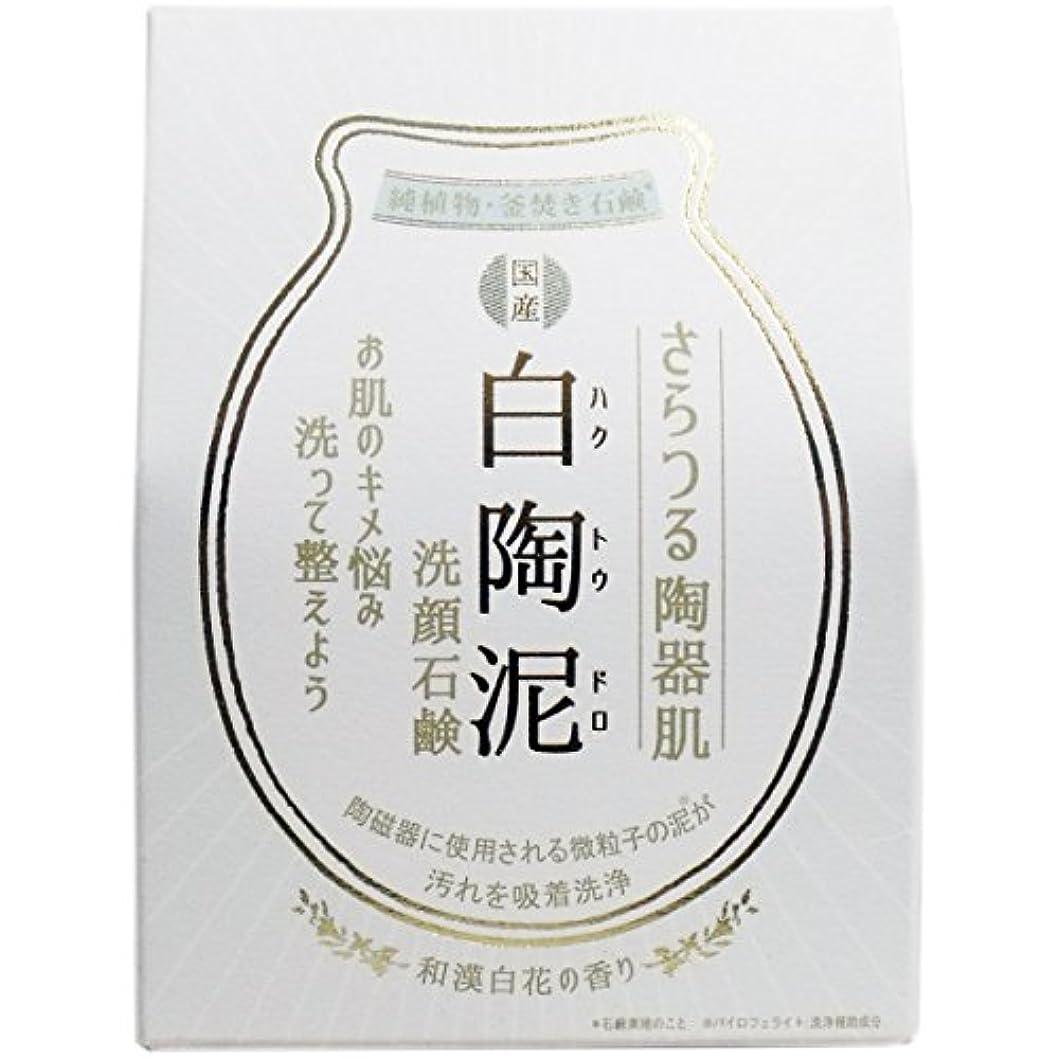 蓮容器におい白陶泥洗顔石鹸 100g×5個セット