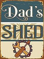 Dad'S Shed 注意看板メタル安全標識壁パネル注意マー表示パネル金属板のブリキ看板情報サイン