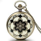 JewelryWe 懐中時計 アンティーク風 ネックレス 時計,ペンダント ウォッチ ポケットウォッチ,さくら 桜,合金,バレンタイン プレゼント