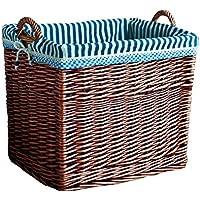 DCAH ストレージバスケットラタン汚れた服の収納バスケットのバスケット籐のフレームおもちゃの織箱3つのモデルから選択する Laundry basket (色 : A)